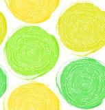 Dekoratives Farbenmuster Nahtlose Beschaffenheit des Vektors mit grünen Kreisen lizenzfreie abbildung