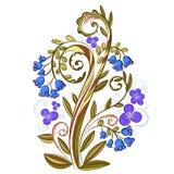 Dekoratives farbiges Blumenmuster mit Glockenblumen Lizenzfreie Abbildung