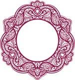 Dekoratives Feld. Weinlese Ornamentalelement. Stockbild