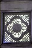Dekoratives Fenster an Birla-Tempel Lizenzfreie Stockfotografie