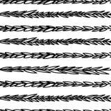 Dekoratives Gekritzel verzweigt sich nahtloses Muster Lizenzfreie Stockfotos