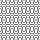 Dekoratives geometrisches schwarzes u. weißes Muster Stockfotografie