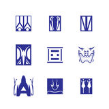 Dekoratives Gestaltungselemente Vektor-Quadratsymbol Stockfotografie