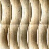 Dekoratives gewelltes Profil - nahtloser Hintergrund - hölzerne Beschaffenheit lizenzfreie abbildung