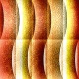 Dekoratives gewelltes Profil - nahtloser Hintergrund - Oberfläche des orange Gelbs vektor abbildung
