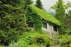 Dekoratives Haus im Garten Lizenzfreie Stockbilder