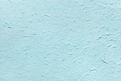 Dekoratives helles weiches blaues Farbpapier, ahmt den alten Gips oder azurblaue die Oberfläche der Weinlese der Fassade nach Stockbild