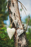 Dekoratives Herz auf einem Baum Lizenzfreies Stockbild