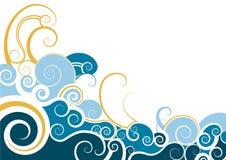 Dekoratives Hintergrunddesign des Strudels Lizenzfreies Stockfoto