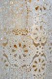 Dekoratives Muster, abstrakter Hintergrund, arabisches islamisches Motiv, geometrisches oment, traditioneller Mosaikhintergrund stockfoto