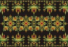 Dekoratives Muster auf schwarzem Hintergrund Lizenzfreie Stockfotos