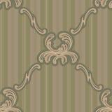 Dekoratives Muster der barocken Verzierung Stockfoto