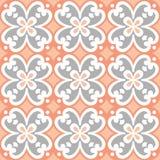 Dekoratives Muster für den Hintergrund, die Fliese und die Gewebe lizenzfreie abbildung