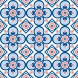 Dekoratives Muster für den Hintergrund, die Fliese und die Gewebe stockbild