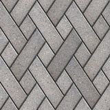 Dekoratives Muster-Fragment von Gray Paving Slabs Stockfotos