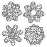Dekoratives Muster im Kreis lizenzfreie abbildung
