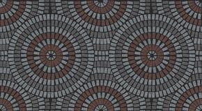Dekoratives Muster im Patio, der veränderte Beschaffenheit pflastert lizenzfreie stockfotografie