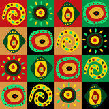 Dekoratives Muster mit afrikanischen Mustern Lizenzfreie Stockfotografie