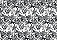 Dekoratives Muster mit dekorativer Pfingstrose Stockfotos