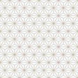 Dekoratives nahtloses dekoratives mit Blumengold u. weißer Muster-Hintergrund Lizenzfreies Stockfoto