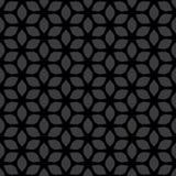 Dekoratives nahtloses geometrisches mit Blumengold u. beige Muster-Hintergrund Stockfoto