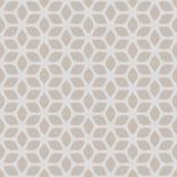 Dekoratives nahtloses geometrisches mit Blumengold u. beige Muster-Hintergrund Stockfotos