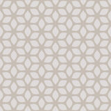Dekoratives nahtloses geometrisches mit Blumengold u. beige Muster-Hintergrund Stockbild