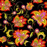 Dekoratives nahtloses mit Blumenmuster Stockfoto