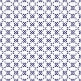 Dekoratives nahtloses Muster Blaue und weiße Farben SchabloneÂEndlesslizenzfreie abbildung