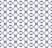 Dekoratives nahtloses Muster Blaue und weiße Farben SchabloneÂEndlessstock abbildung