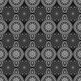 Dekoratives nahtloses Muster Ost-, orientalisches Design, ethnische Art Vektorhintergrund der Mandala Islam, Arabisch, Inder, Osm Stockbild