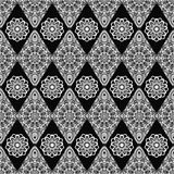 Dekoratives nahtloses Muster Ost-, orientalisches Design, ethnische Art Vektorhintergrund der Mandala Islam, Arabisch, Inder, Osm Lizenzfreie Stockfotos