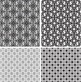 Dekoratives nahtloses Schwarzweiss-Muster. Vecto Stockfoto
