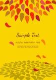 Dekoratives Plakat des Herbstes Stockbild