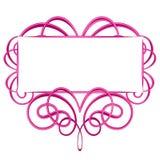 Dekoratives rosafarbenes Flourish-Zeichen Stockbilder