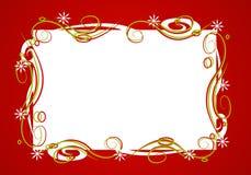 Dekoratives rotes Weihnachtsfeld Stockbild