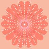 Dekoratives rundes Blumen Lizenzfreie Stockfotografie