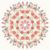Dekoratives rundes Blumenmuster Stockbild