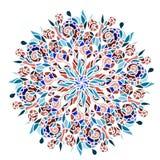 Dekoratives rundes Muster Stockbild