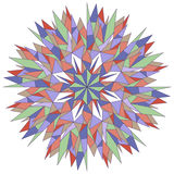 Dekoratives rundes Muster Stockbilder