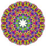Dekoratives rundes organisches Muster Stockfoto