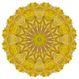 Dekoratives rundes organisches Muster Lizenzfreies Stockbild