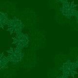 Dekoratives rundes organisches Muster auf einem grünen Hintergrund Stockfoto