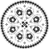 Dekoratives rundes Spitzemuster, Stockbild
