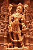 Dekoratives Schnitzen von Jain Tempeln, Jaisalmer, Indien Stockbild