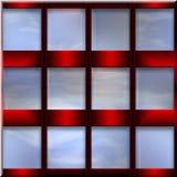 Dekoratives Set Fenster Stockbild