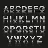 Dekoratives silbernes Alphabet Stockfoto