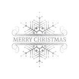 Dekoratives silbernes Weihnachtsgestaltungselement Stockfotografie