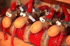Dekoratives Spielzeug der Weihnachts- und des neuen Jahresdekoration im Retrostil Stockfotografie