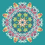 Dekoratives Spitzemuster. Blumen und Blätter Lizenzfreies Stockbild
